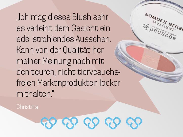 Bewertung zum Blush.