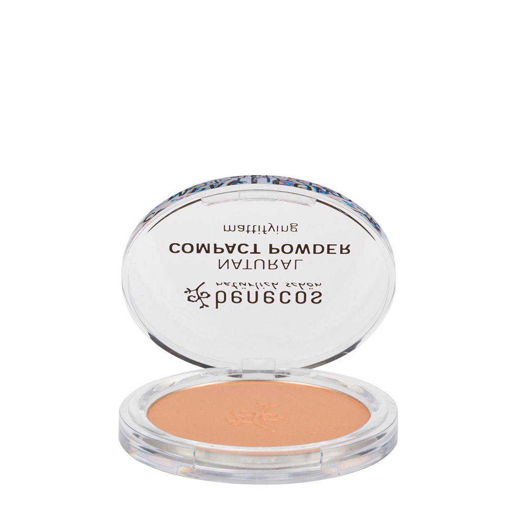 Compact Puder in Beige.