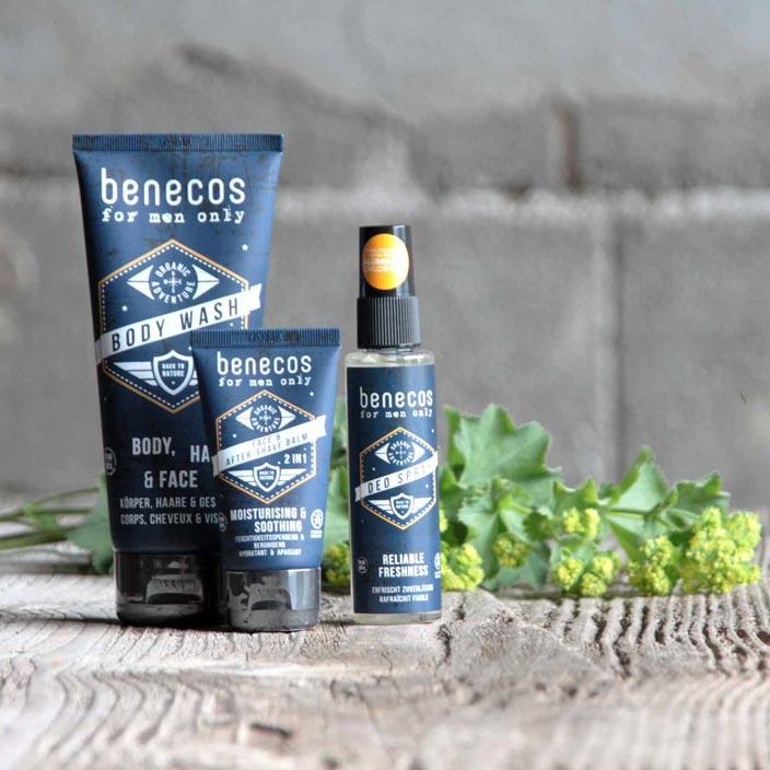 Dusch-Shampoo, After-Shave und Deo –Geschenkeset für Männer.