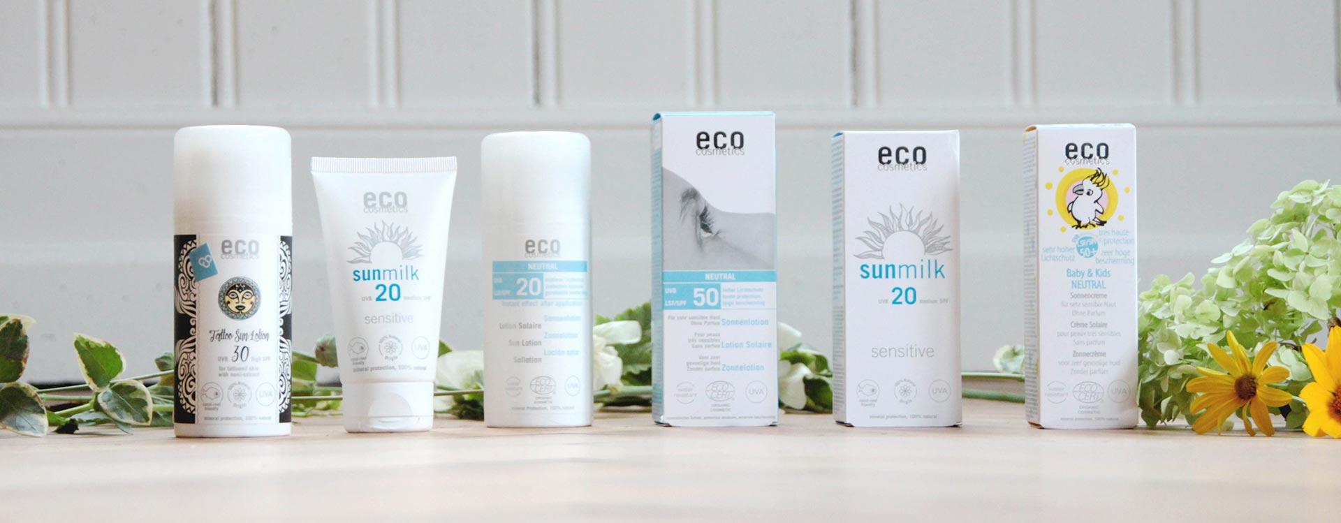 Natürlicher Sonnenschutz für Kinder und Erwachsene von Eco Cosmetics.