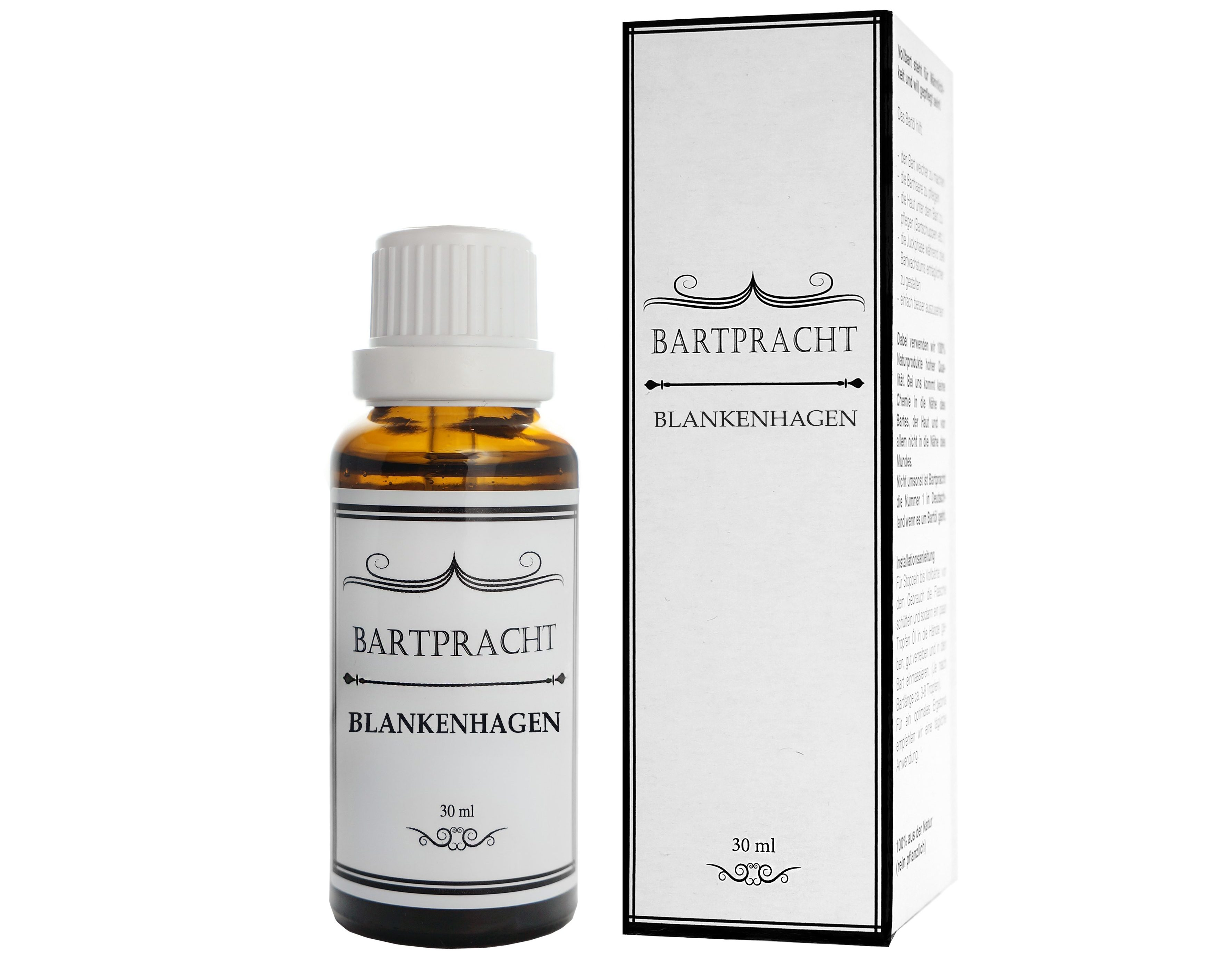 Das Rasieröl Blankenhagen von Bartpracht sorgt für eine sanfte Nassrasur.