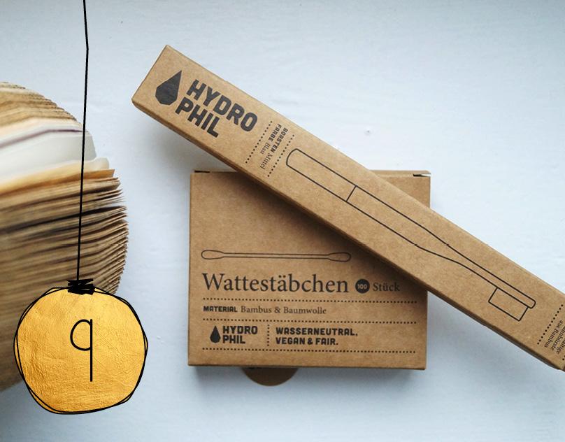Weihnachtsaktion: Zahnbürste und Wattestäbchen von Hydrophil.