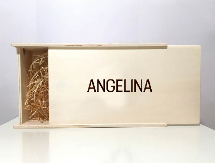 Personalisierte cosa Holzbox.
