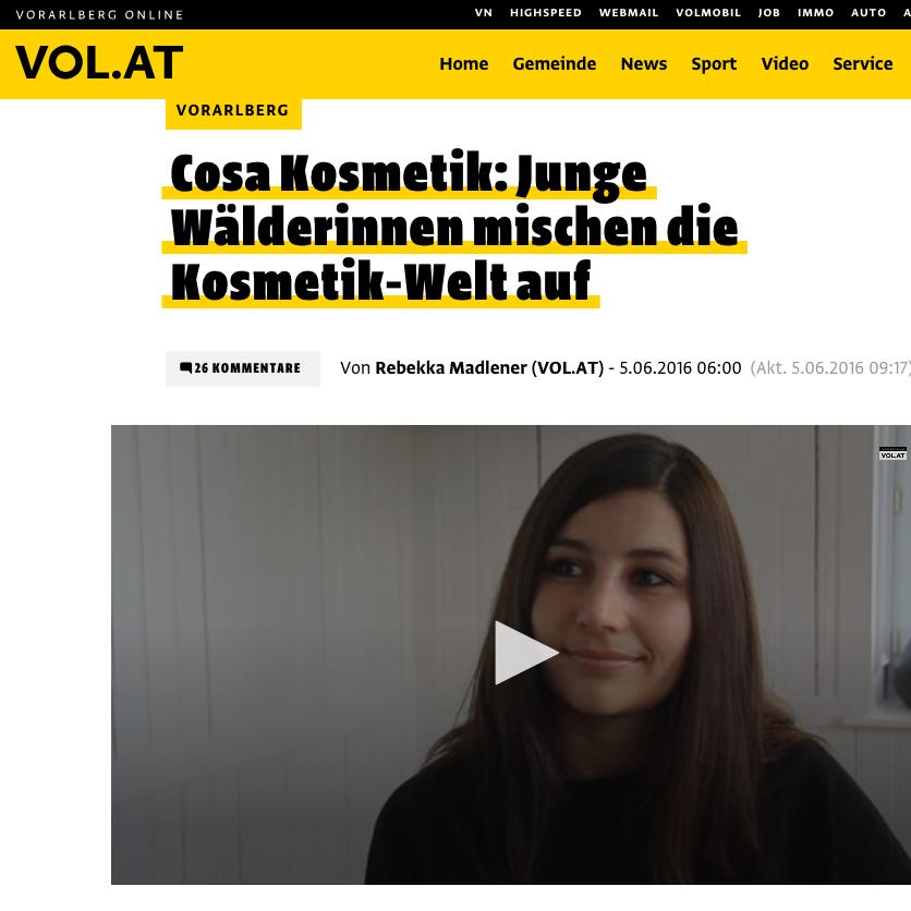 cosa Kosmetik im vol.at-Interview.