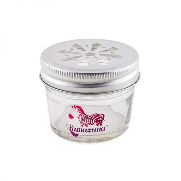 Das Aufbewahrungsglas für die festen Shampoos von Lamazuna
