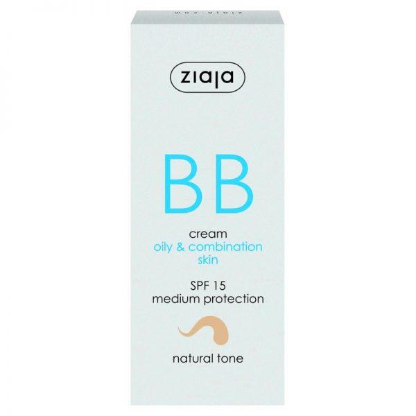 Die BB Cream für fettige Haut und Mischhaut in natural von Ziaja