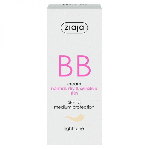 Die BB Cream für normale, empfindliche und trockene Haut in hell von Ziaja