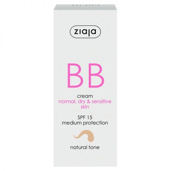 Die BB Cream für normale, empfindliche und trockene Haut in natural von Ziaja