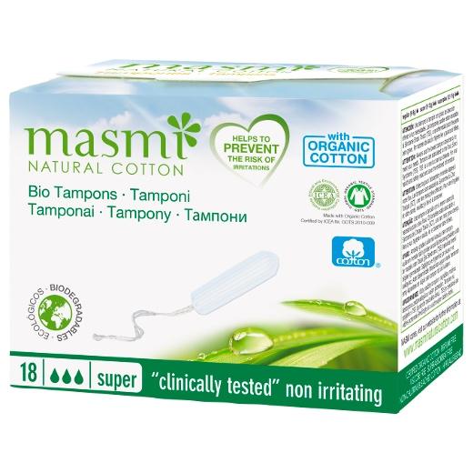 Bio Tampons in Super aus 100 % zertifizierter Bio-Baumwolle für mittlere Regelblutungen
