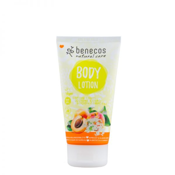 Die Naturkosmetik-Bodylotion mit Aprikose und Holunderblüte von Benecos