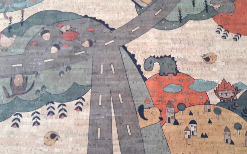 Der Straßenteppich kann sehr vielseitig von Babys und Kindern verwendet werden.