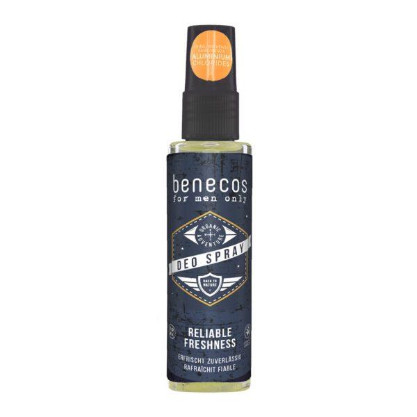 Deo-Spray ohne Aluminiumsalze für Männer von Benecos