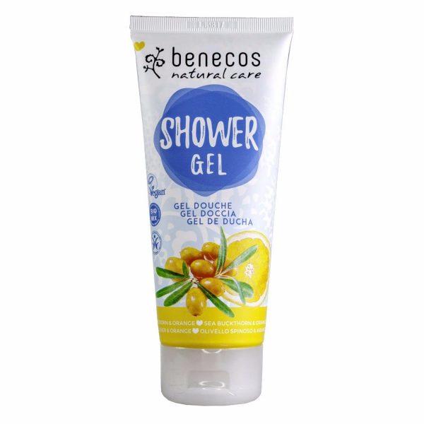 Das fruchtige Duschgel mit Sanddorn- und Orangen-Duft von Benecos