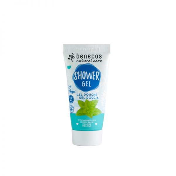 Das erfrischende Mini-Duschgel mit Zitronenmelisse von Benecos