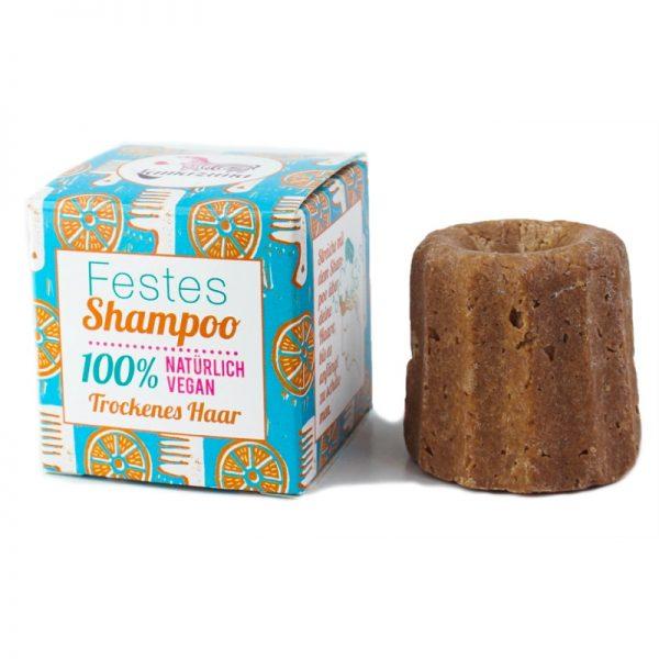 Das feste Shampoo mit Orangenduft für trockenes Haar von Lamazuna