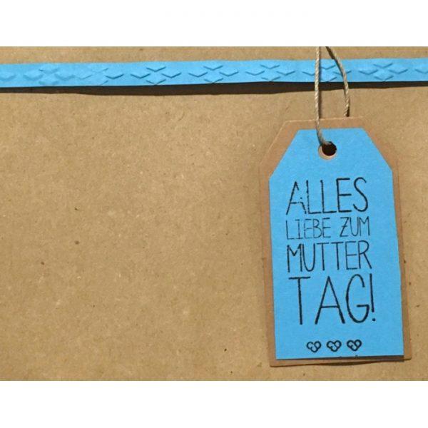 """Geschenkverpackung mit Anhänger """"alles Liebe zum Muttertag"""" von cosa Kosmetik"""