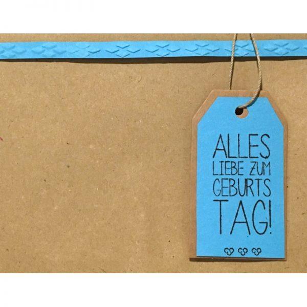 """Geschenkverpackung mit Anhänger """"alles Liebe zum Geburtstag"""" von cosa Kosmetik"""