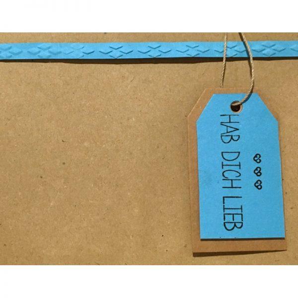"""Geschenkverpackung mit Anhänger """"hab dich lieb"""" von cosa Kosmetik"""