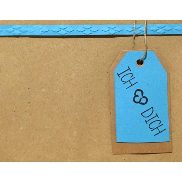 """Geschenkverpackung mit Anhänger """"ich"""
