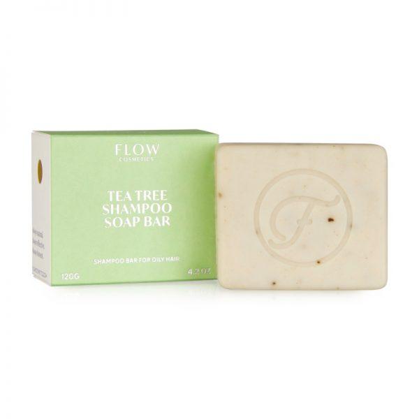 Die Haarseife mit Teebaumöl und Rosmarin für fettiges Haar und Problemkopfhaut von Flow