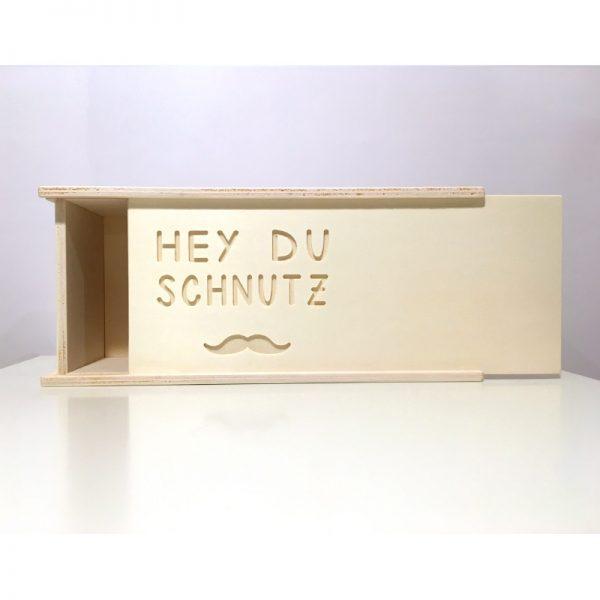"""Handgemachte Holzbox """"hey du Schnutz"""" von cosa Kosmetik"""