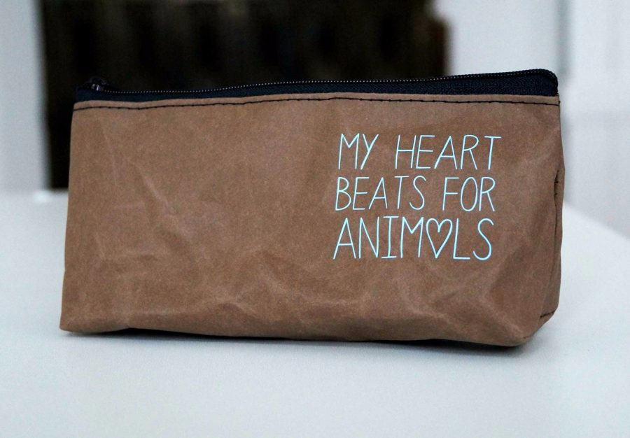 "Kosmetiktäschchen ""My heart beats for Animals"""