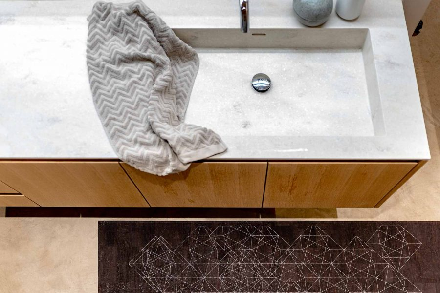 Korkteppiche eigenen sich auch sehr gut fürs Badezimmer.