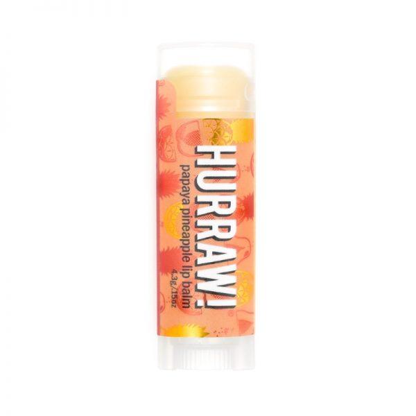 Lippenbalsam mit Papaya-Ananas-Geschmack von Hurraw!