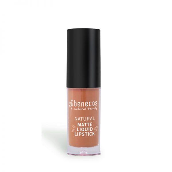 Der langanhaltende Liquid Lipstick in Desert Rose von benecos