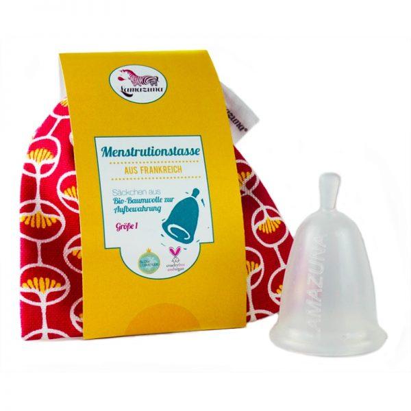 Menstruationstasse für leichte bis mittlere Blutungen von Lamazuna