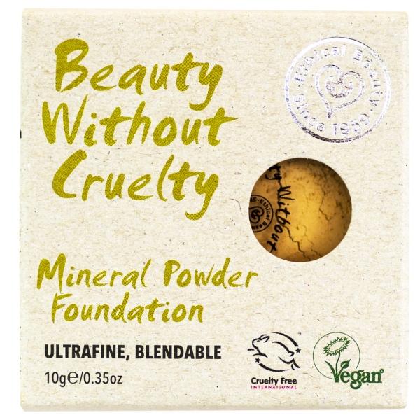 Die mineralische Foundation in einem hellen Sandton von Beauty Without Cruelty