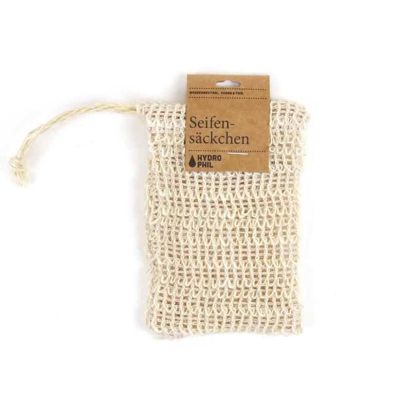 Das Seifen-Säckchen aus 100 % Sisal ist die perfekte Ergänzung zu deiner festen Seife