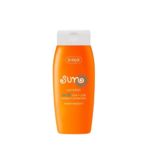 Die wasserfeste Sonnenlotion mit LSF 20 bietet optimalen Sonnenschutz und ist besonders für trockene Haut geeignet