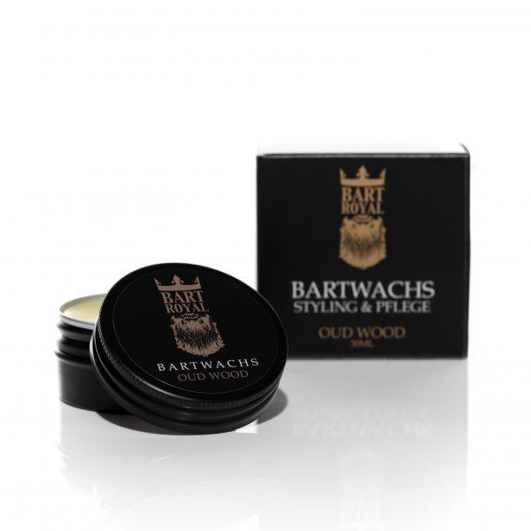Das Bartwachs Oud Wood mit holzigem Duft von Bart Royal