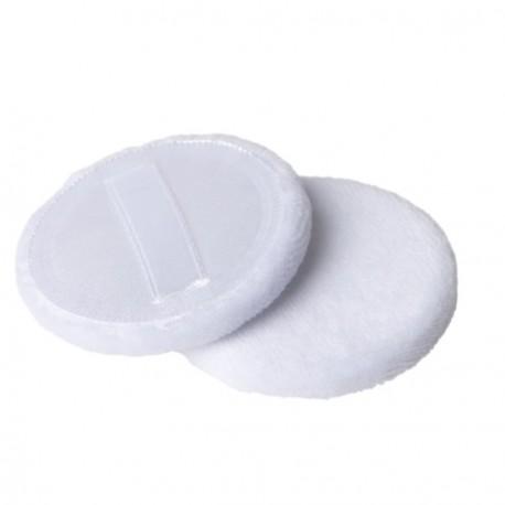2 Puderquasten zum auftragen von gepressten bzw. losen Puder