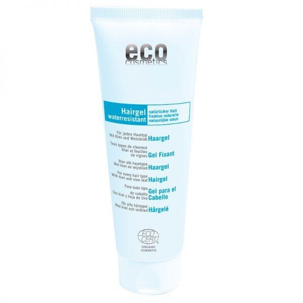 Das Haargel von eco cosmetics fixiert das Haar ohne es zu schädigen