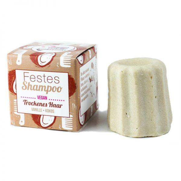 Das feste Shampoo mit Vanille-Kokos-Duft von Lamazuna