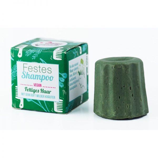 Das feste Shampoo mit Wildkräuterduft von Lamazuna