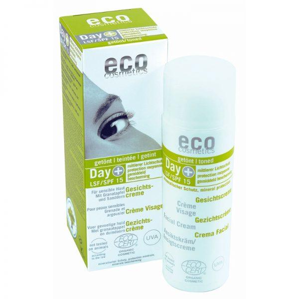 Die getönte Gesichtscreme mit LSF 15 von eco cosmetics