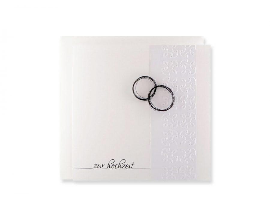 Karte zur Hochzeit.