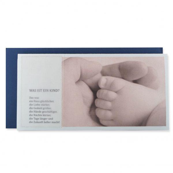 """Handgemachte Karte mit dem Spruch """"Was ist ein Kind."""""""