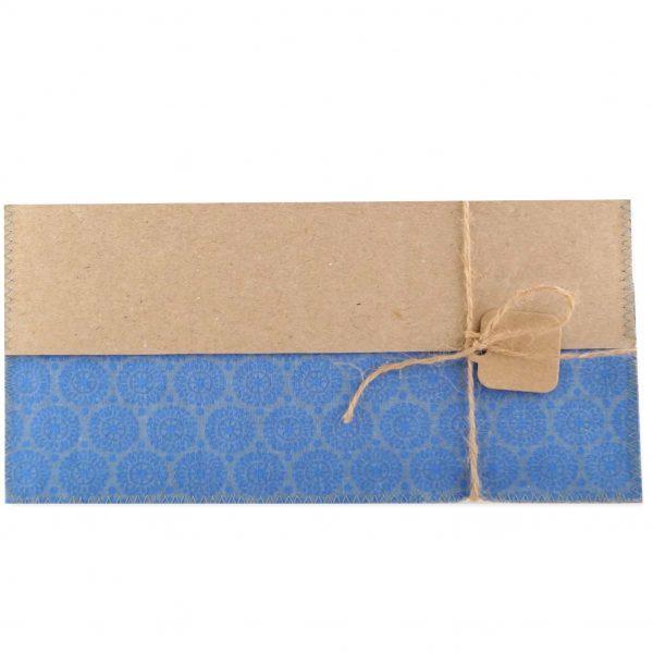 Handgenähte Karte aus Stoff und Papier für jeden Anlass.