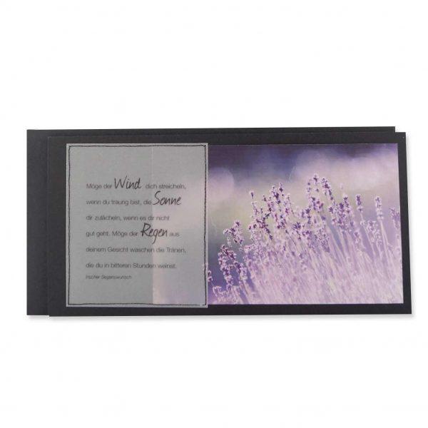 Trauerkarte mit Irischem Segenswunsch.