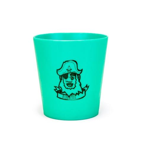 Der Erdöl- und plastikfreie Kinder-Zahnputzbecher in Grün mit Kapitän-Print von Hydrophil