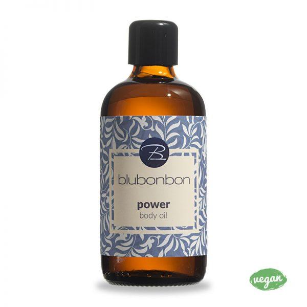 Das Power Körperöl von Blubonbon entspannt deine Muskeln.