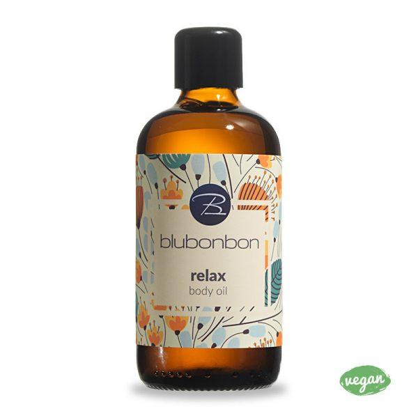 Das Relax Körperöl von Blubonbon pflegt deine Haut.