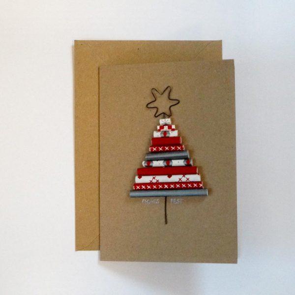 """Weihnachtskarte """"Frohes Fest""""."""