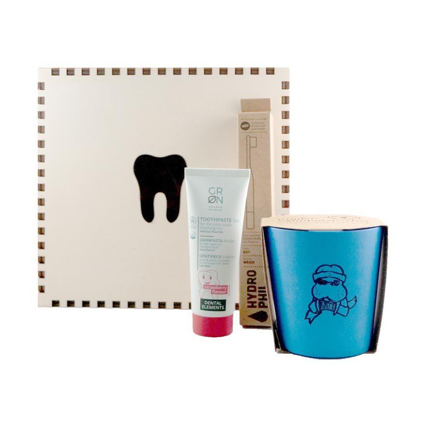 Zahnbox als Geschenkeset für Kinder.
