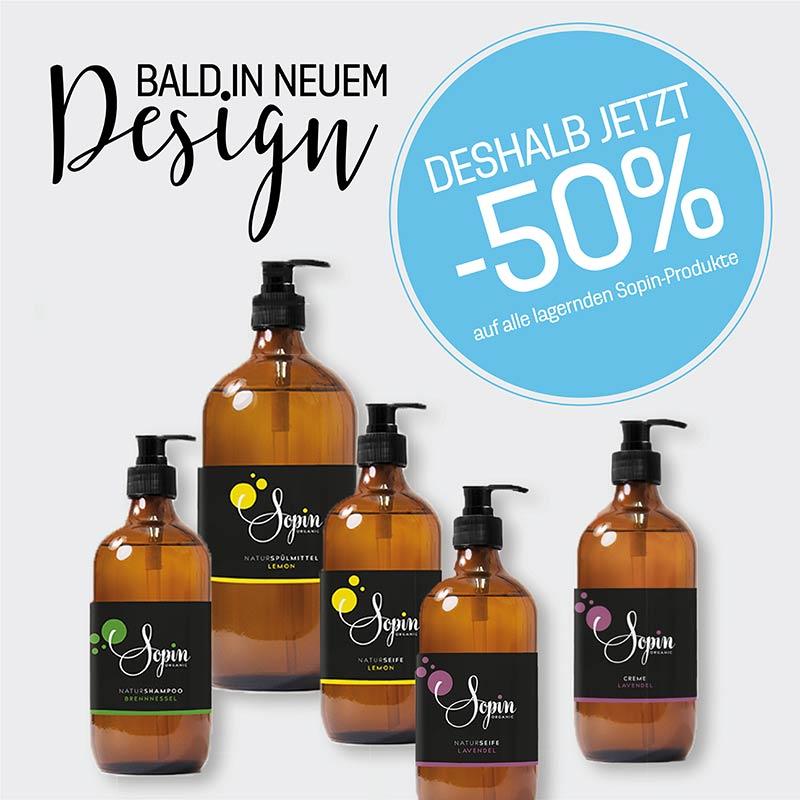 50% Rabatt auf alle Sopin-Produkte im alten Design