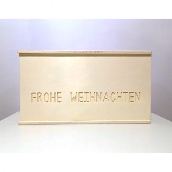 """Handgemachte Holzbox """"frohe Weihnachten"""" von cosa Kosmetik"""